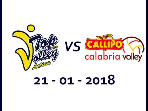 Taiwan Excellence Latina vs Tonno Callipo Calabria Vibo Valentia (21/1/2018)