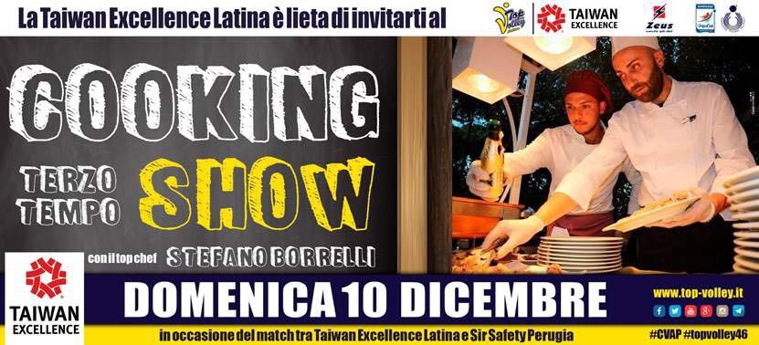 Terzo tempo dopo Latina-Perugia: Spettacolare Cooking Show