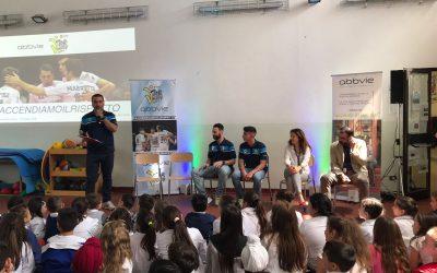 Top Volley e AbbVie insieme nella scuola primaria di Selciatella plesso dell'istituto Zona Leda di Aprilia